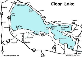Clear lake info and map for Clear lake iowa fishing