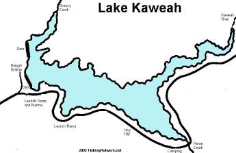 Lake kaweah info and map for Lake kaweah fishing