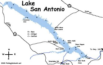 Lake San Antonio Map