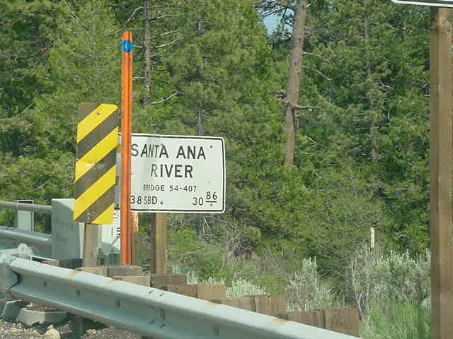 santa ana river and bear creek info and map